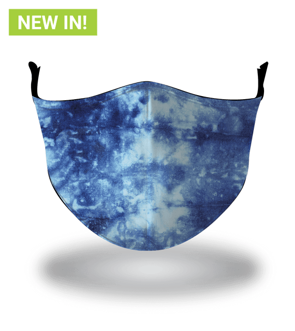 Masx Tie Dye Blue  Reusable Face Mask