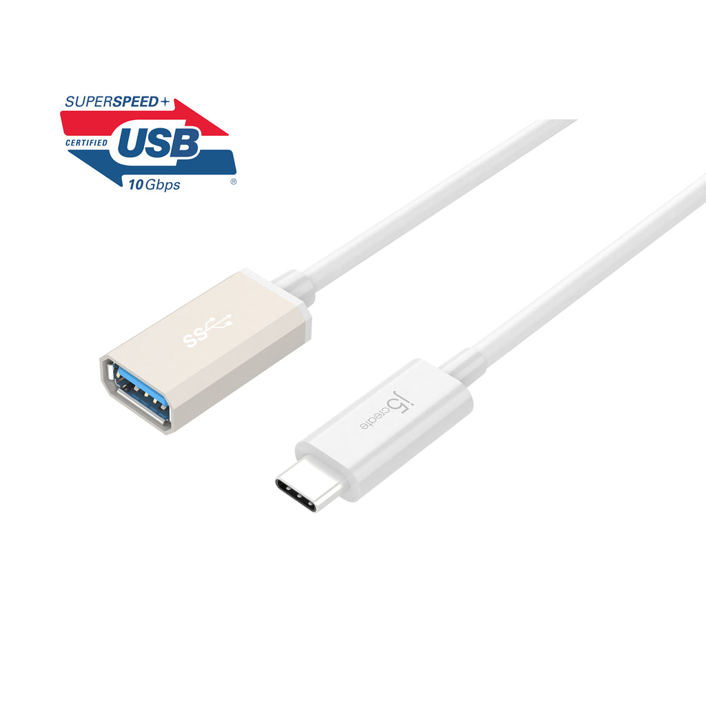 JUCX05J USB3.1 Type-C to Type-A 変換ケーブル 10cm