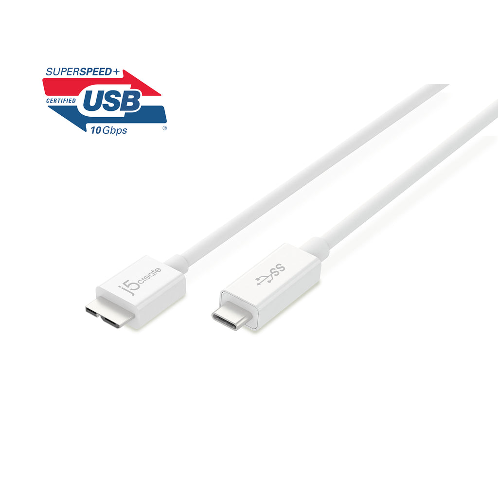 JUCX07 USB 3.1 Type-C To Micro-B ケーブル(販売終了)