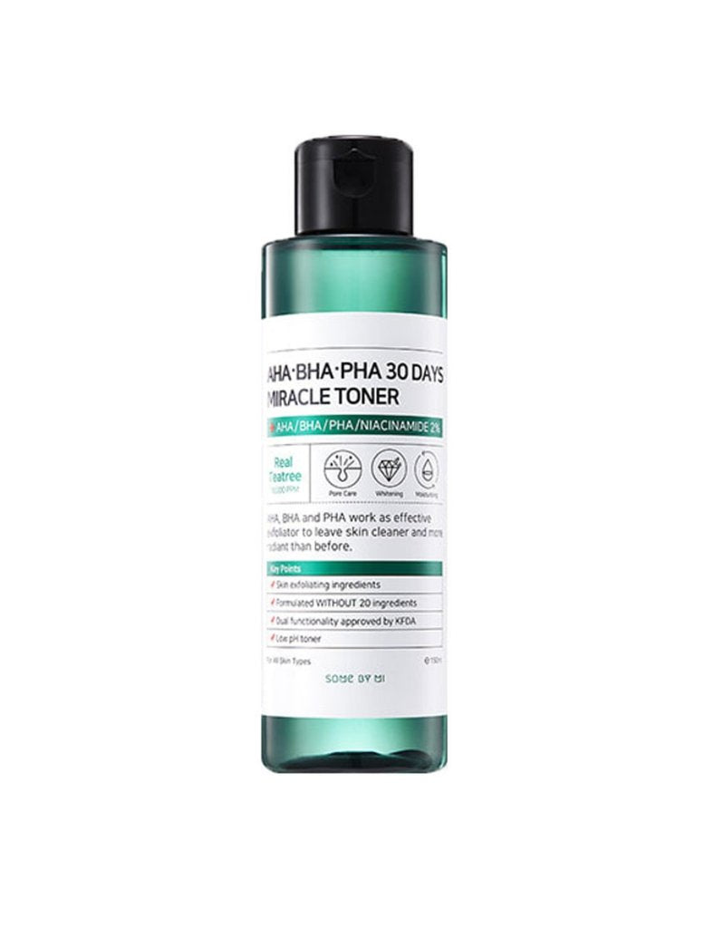 Some By Mi AHA BHA PHA 30 Days Miracle Toner blackheads acne whiteheads treatment essence - HoneyDew Korean Skincare SA South Africa