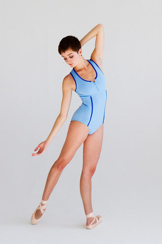 Ballet Zaida by the dancewear project: Malibu Leotard - Blush