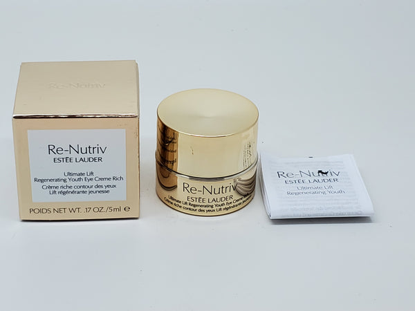 Estee Lauder re-nutriv ultimate lift regenerating youth eye creme rich 0.17 oz