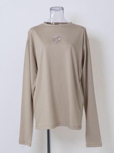 EMBROIDERY LONG T-SHIRT
