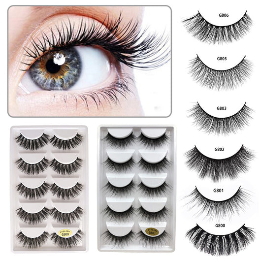 5 Pairs Luxry Thick False Eye Lash