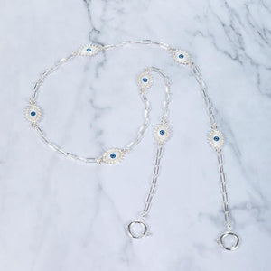 Eye Believe - Silver - Mask Chain