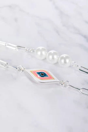 Eye See Pearls - Silver - Mask Chain