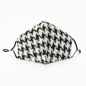 Houndstooth Tweed - Face Mask