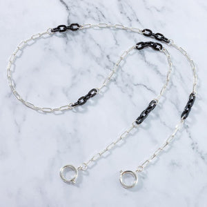 Espresso Black Silver - Mask Chain