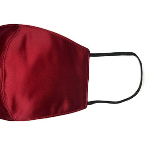 Lady in Red Silk - Face Mask