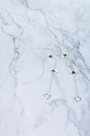 Love Eyes - Silver - Mask Chain