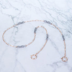 Rosé & Gray All Day Rose Gold - Mask Chain