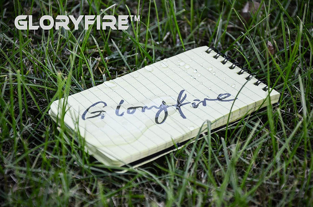 GLORYFIRE Waterproof Notebook All Weather Shower Pocket Tactical Notepad with Cover Steno Pad Memo Book
