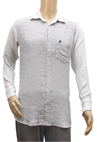 Generic Mens  Cotton Casual Men Shirts (White, Grey, M)