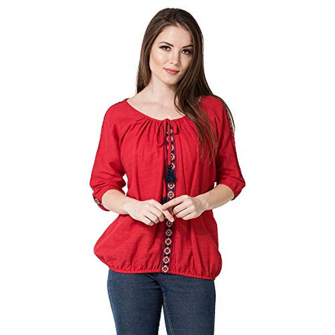 AANIA Women's Top (AAN055_red-X_Red_X-Large)