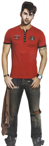 Generic Mens  Hosiery Solid Men Tshirts (Red, M)