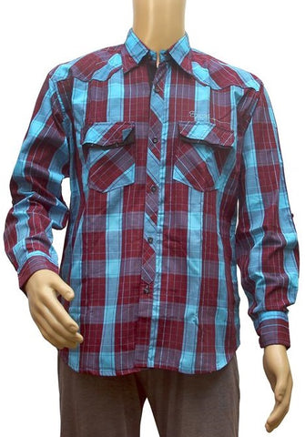 Generic Mens  Cotton Casual Men Shirts (Blue, Maroon, XXL)