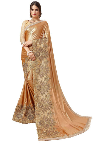 Generic Women's Malai Silk Saree with Blouse (Multi,5-6 mtrs)
