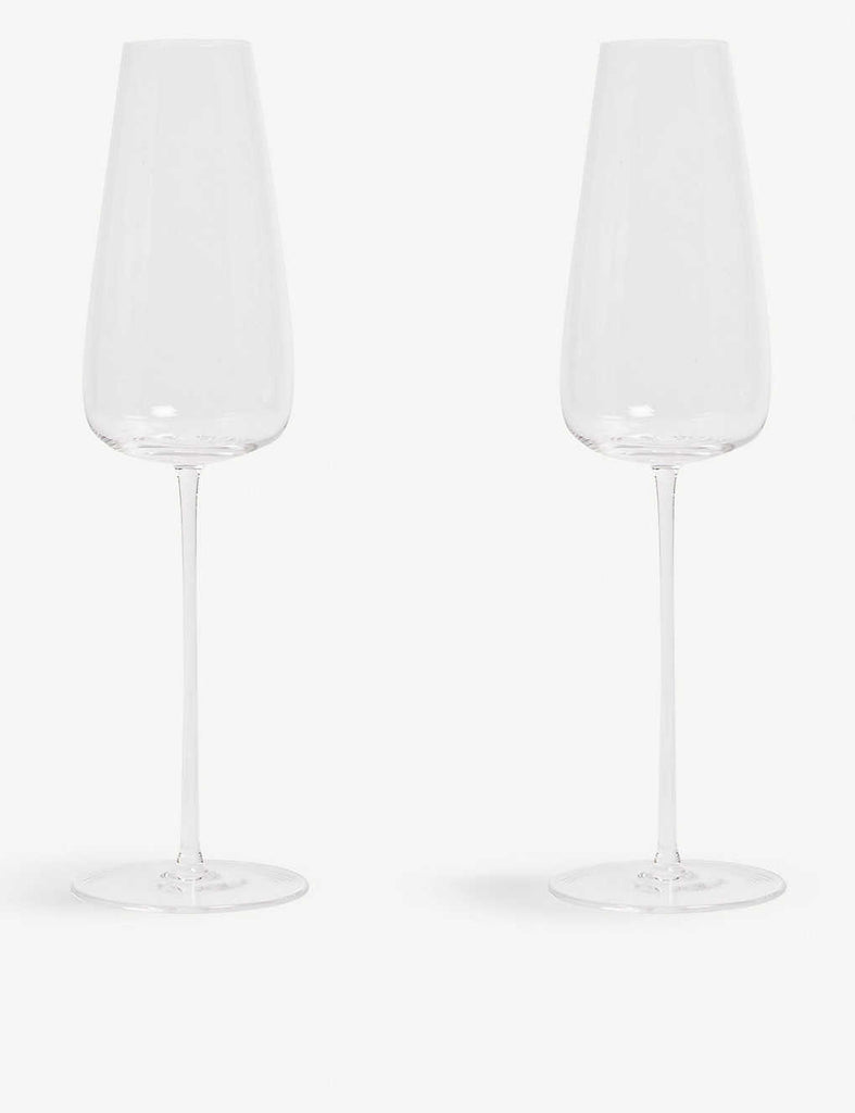 LSA Wine Culture Two Champagne Glass Flutes