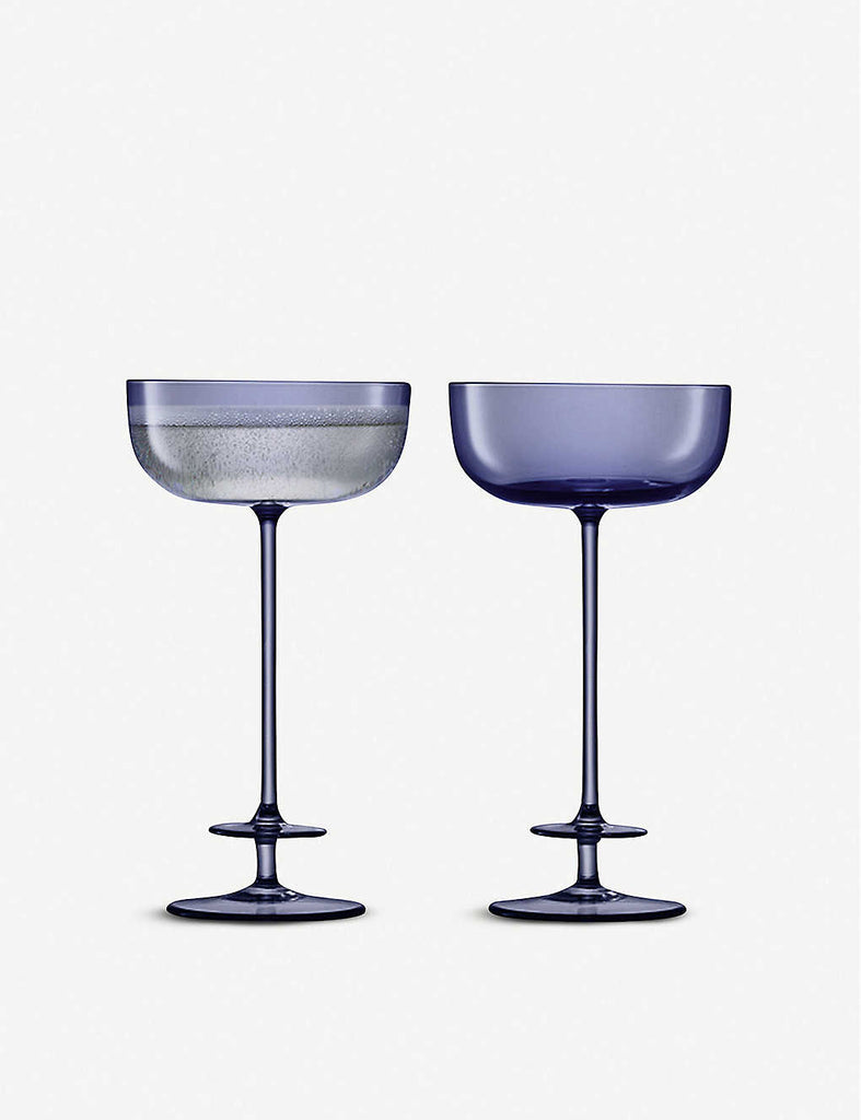 LSA Champagne Theatre Champagne Saucer Set of Two