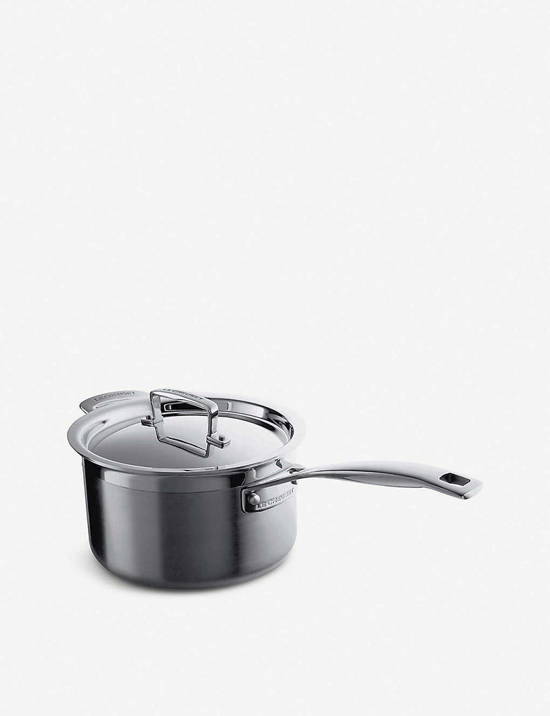 LE CREUSET 3-ply Stainless Steel Saucepan with Lid 20cm - 1000FUN
