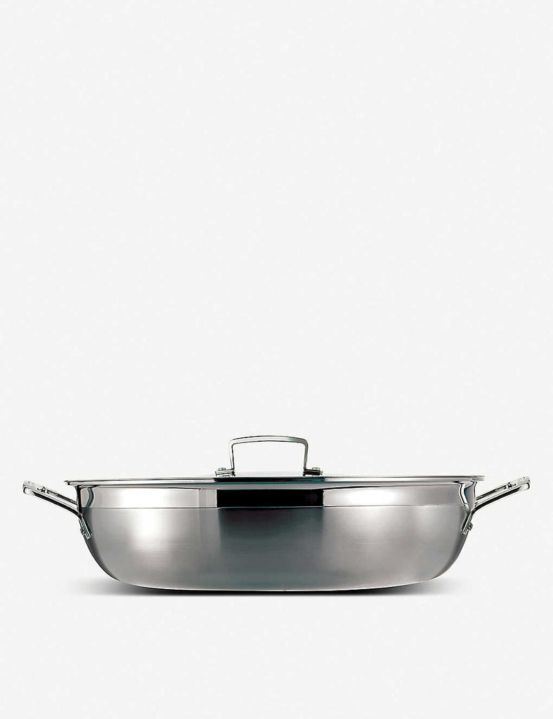 LE CREUSET 3-ply Stainless Steel Shallow Braiser 26cm - 1000FUN