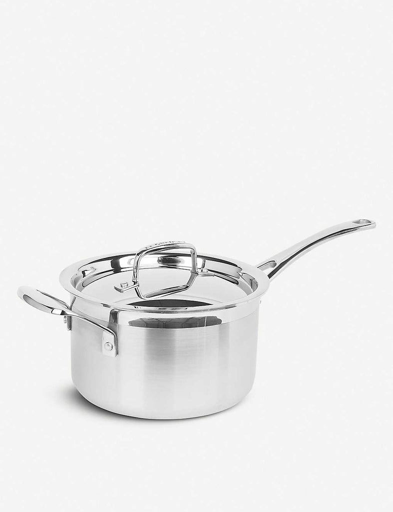 LE CREUSET 3-ply Stainless Steel Saucepan with Lid 18cm - 1000FUN