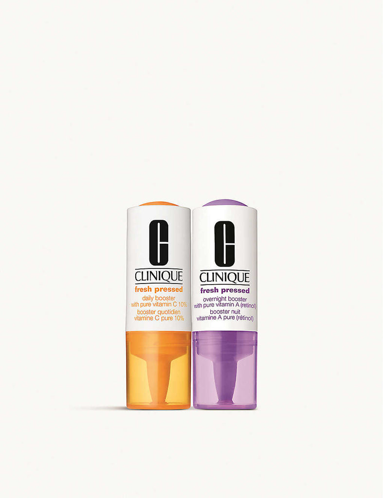 CLINIQUE Fresh Pressed Daily and Overnight Boosters with Pure Vitamins C 10% + A (Retinol) Duo 6ml