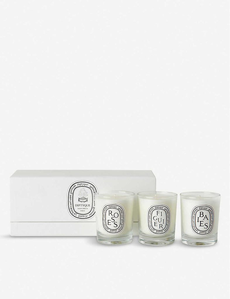 DIPTYQUE Baies, Figuier & Roses Mini Candles 3 x 70g