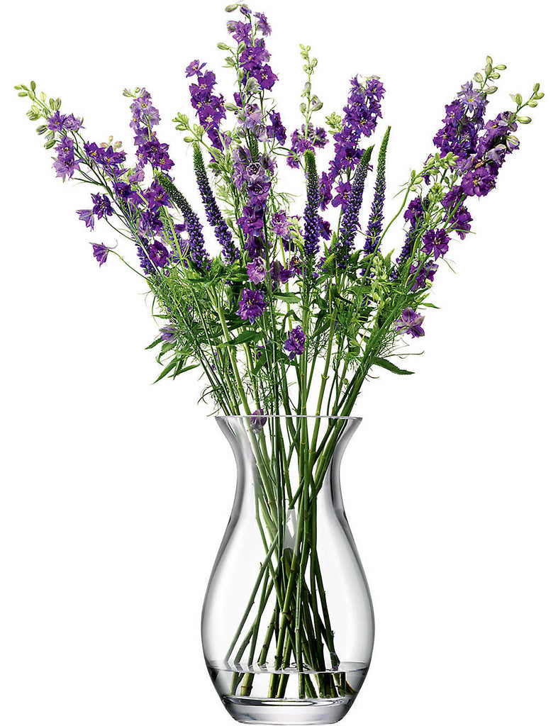 LSA Flower Grand Posy Glass Vase 32cm