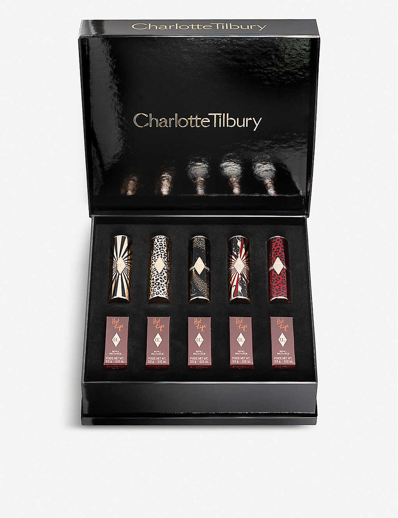 CHARLOTTE TILBURY Hot Lips Wardrobe Lipsticks Set of Ten 35g