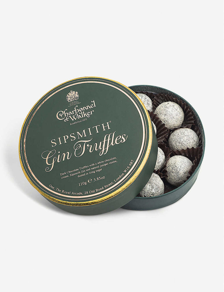CHARBONNEL ET WALKER Sipsmith Gin Dark Chocolate Truffles 110g