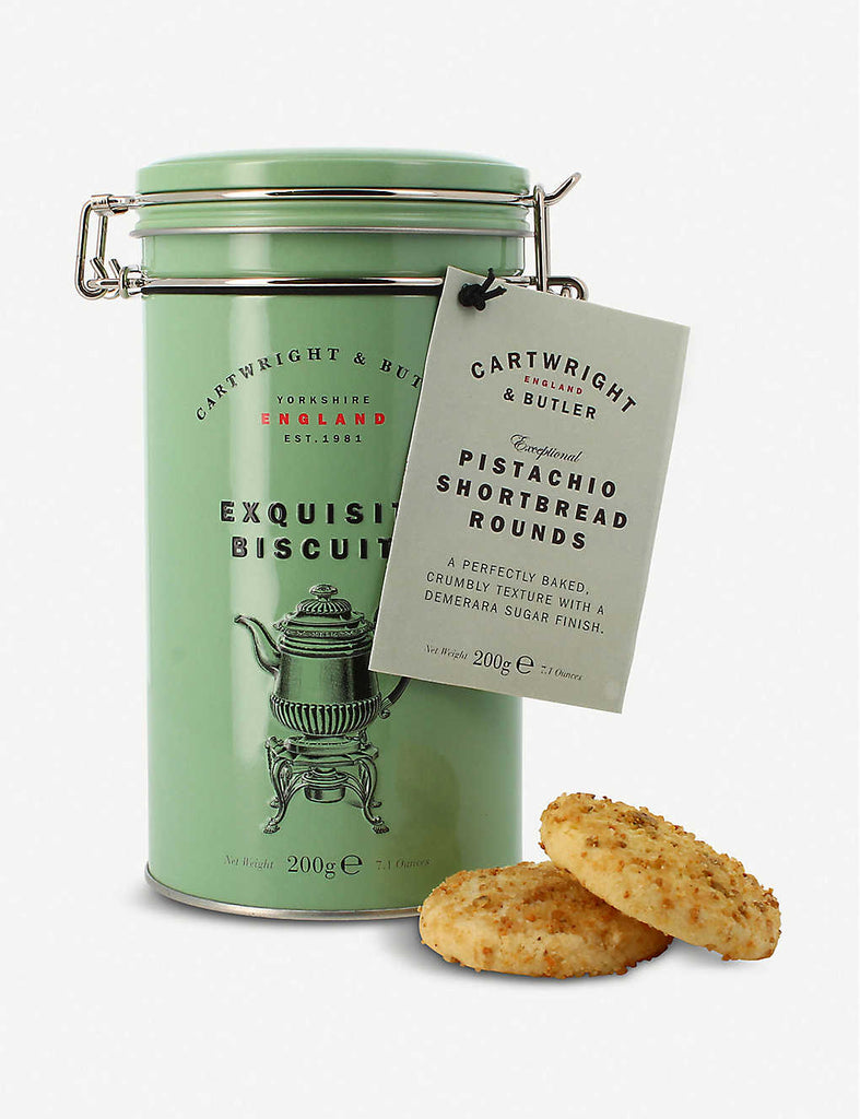 CARTWRIGHT & BUTLER Pistachio Shortbread Rounds 200g