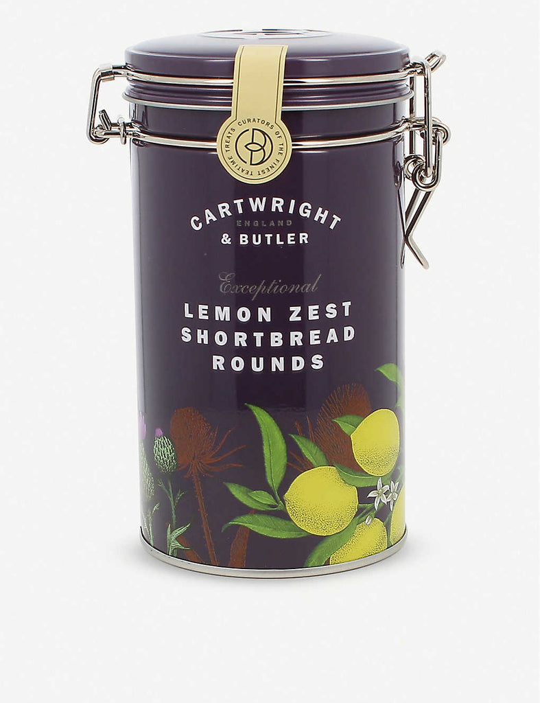 CARTWRIGHT & BUTLER Lemon Zest Shortbread Biscuits 200g