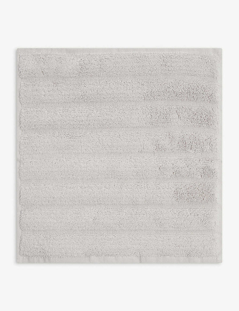 THE WHITE COMPANY Hydrocotton Ribbed Face cloth 30cm x 30cm