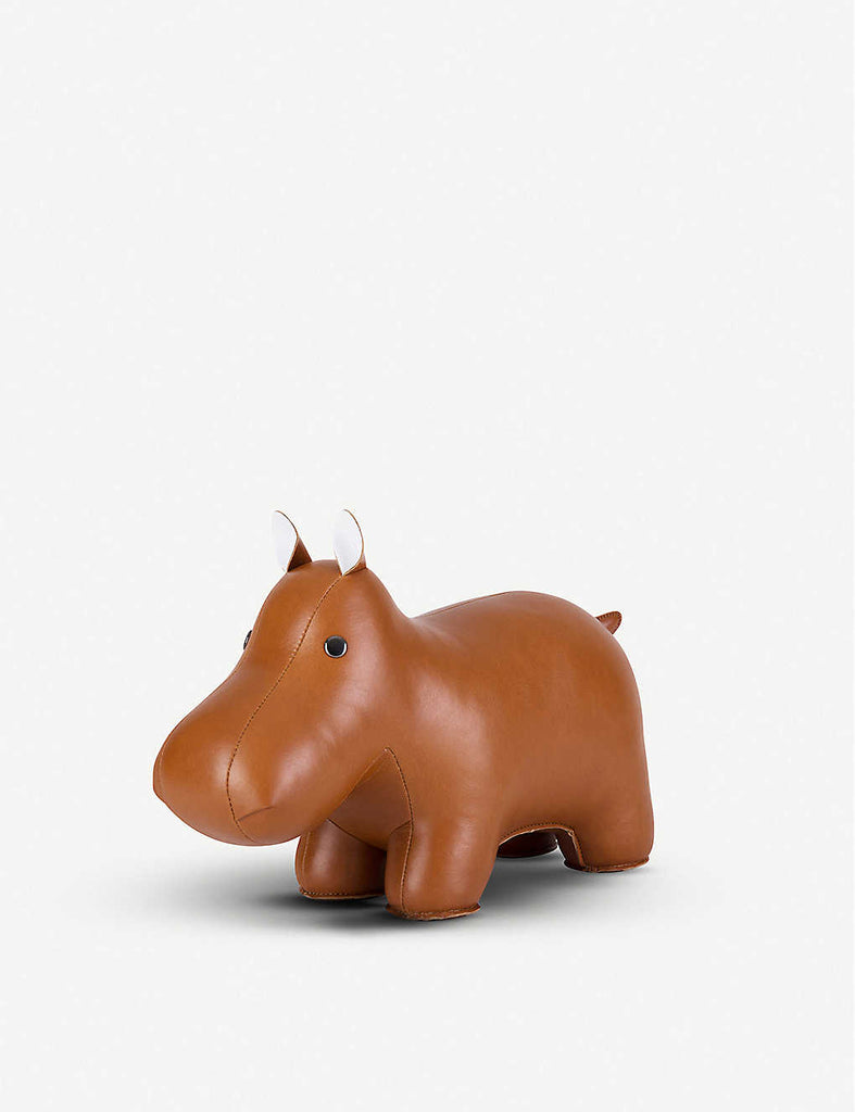 ZUNY Hippo Faux-Leather Doorstop