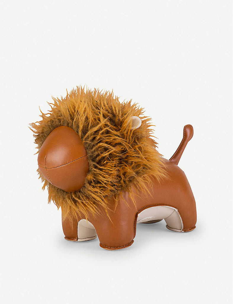 ZUNY Lion Faux-Leather Doorstop