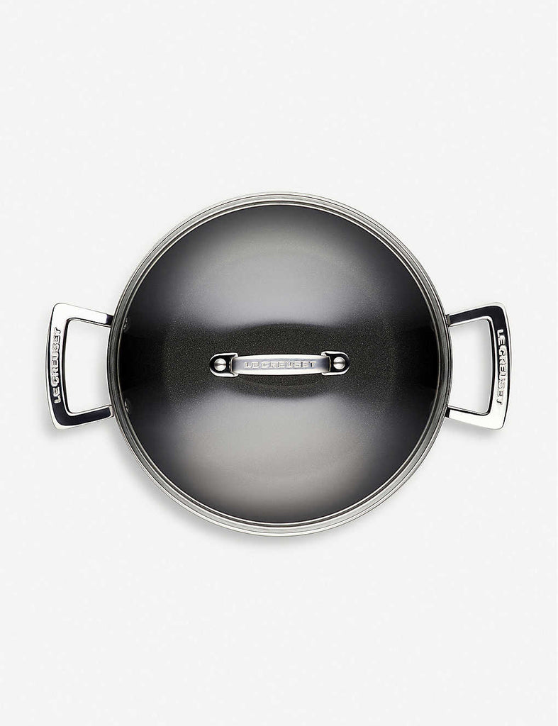 LE CREUSET Toughened Non-Stick Shallow Casserole Pan 24cm - 1000FUN