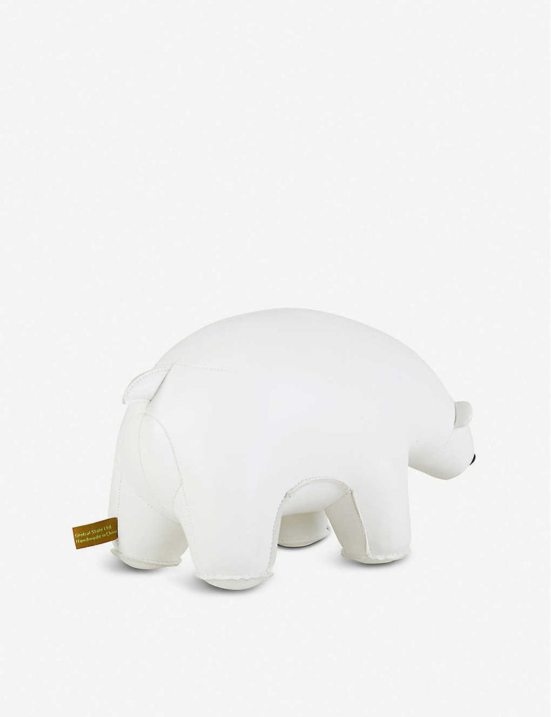 ZUNY Polar Bear Leather Bookend