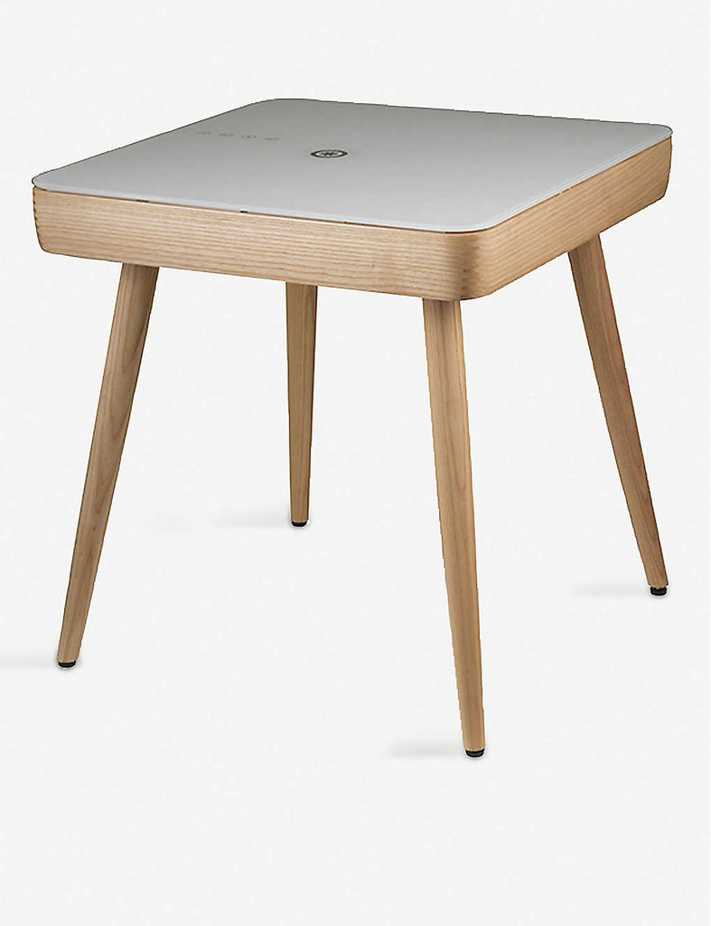 KOBLE Carl Smart Wooden & Glass Side Table