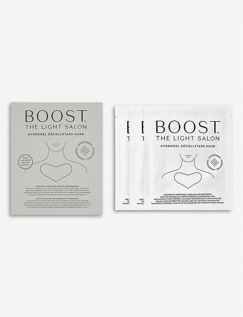 THE LIGHT SALON BOOST Hydrogel Décolletage Mask Pack of Three