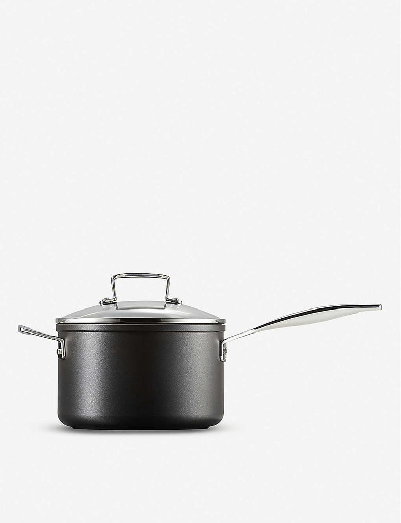 LE CREUSET Toughened Non-Stick Saucepan with Glass Lid 20cm - 1000FUN