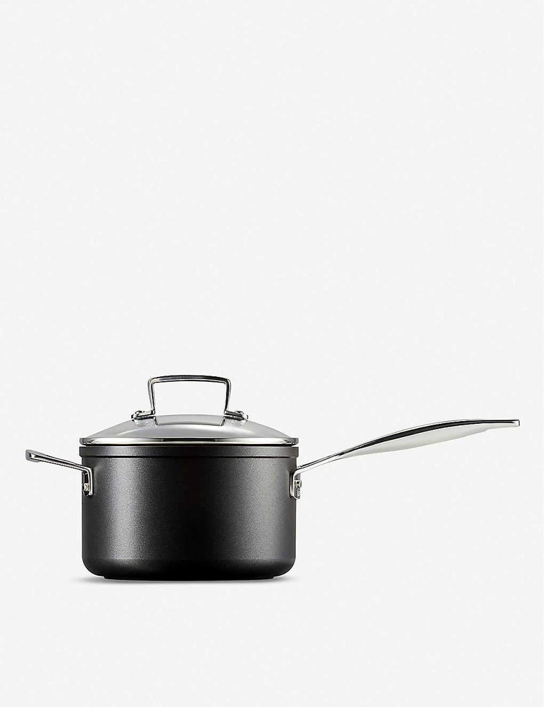 LE CREUSET Toughened Non-Stick Saucepan with Glass Lid 18cm - 1000FUN