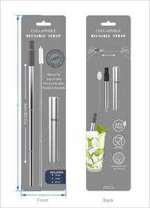 Expandable & Retractable Reusable Straw