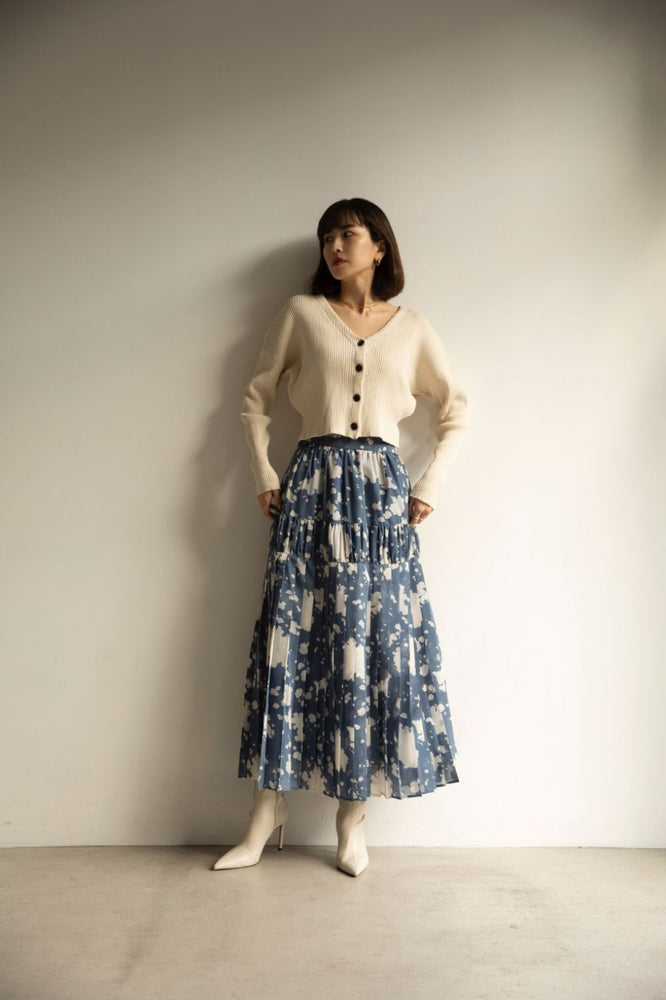 Inc art tiered skirt