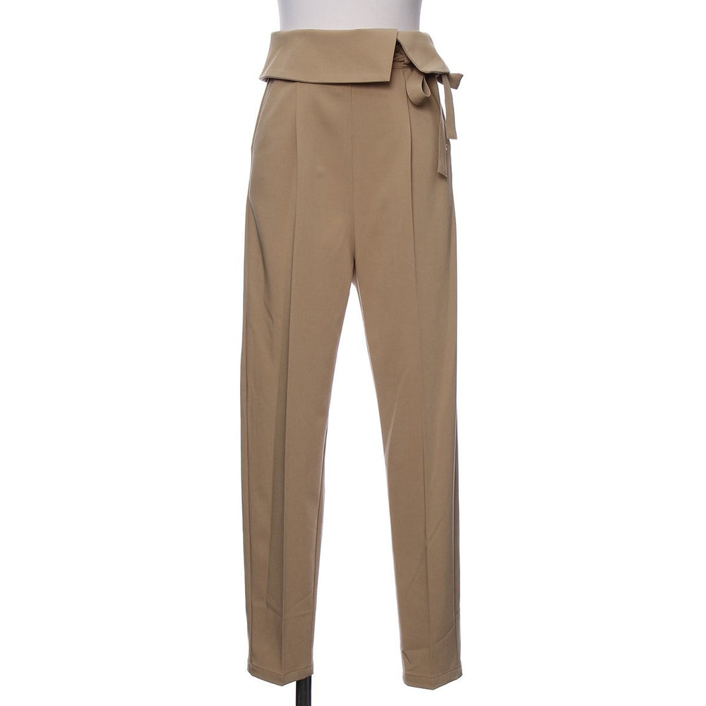 Peplum belt slacks pants - CISLYS