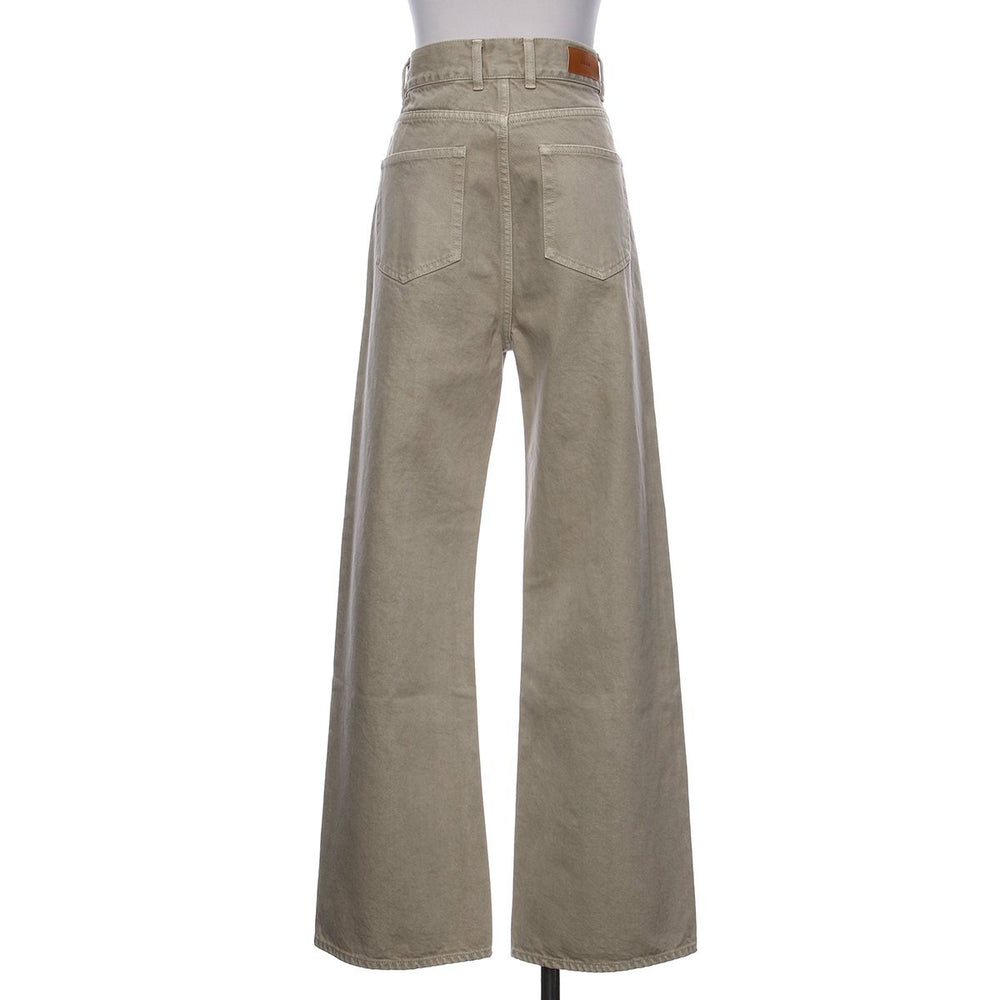 Slim flare hight waist denim - Beige - CISLYS