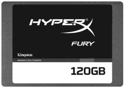 "Kingston HyperX FURY SSD (120-240GB Serial ATA III 500 MB/s 2.5"") Solid State Drive"