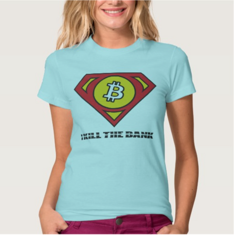 Bitcoin T-Shirt Various Models and Colors 100% Cotton Women