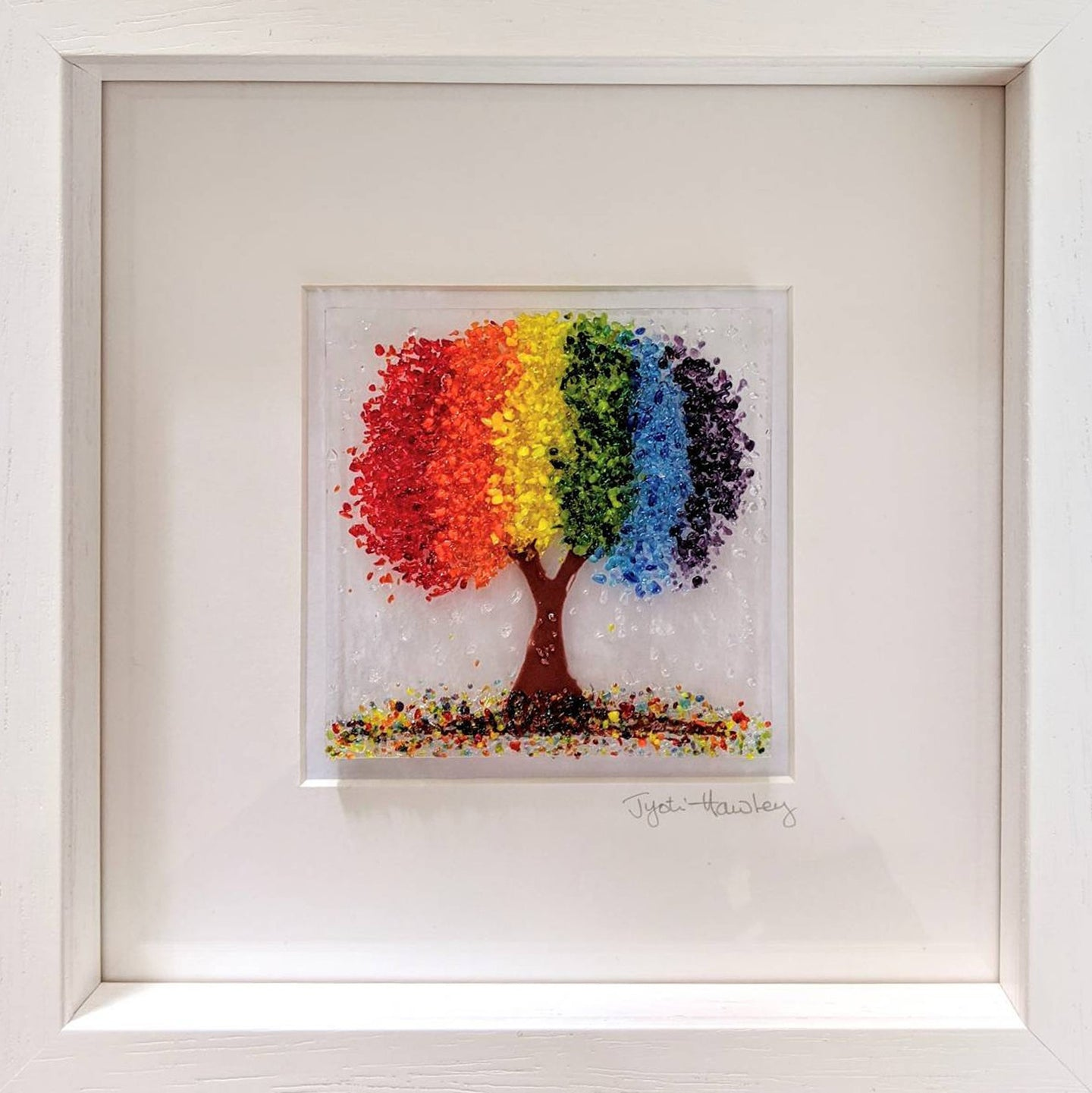 Rainbow Tree Framed Picture