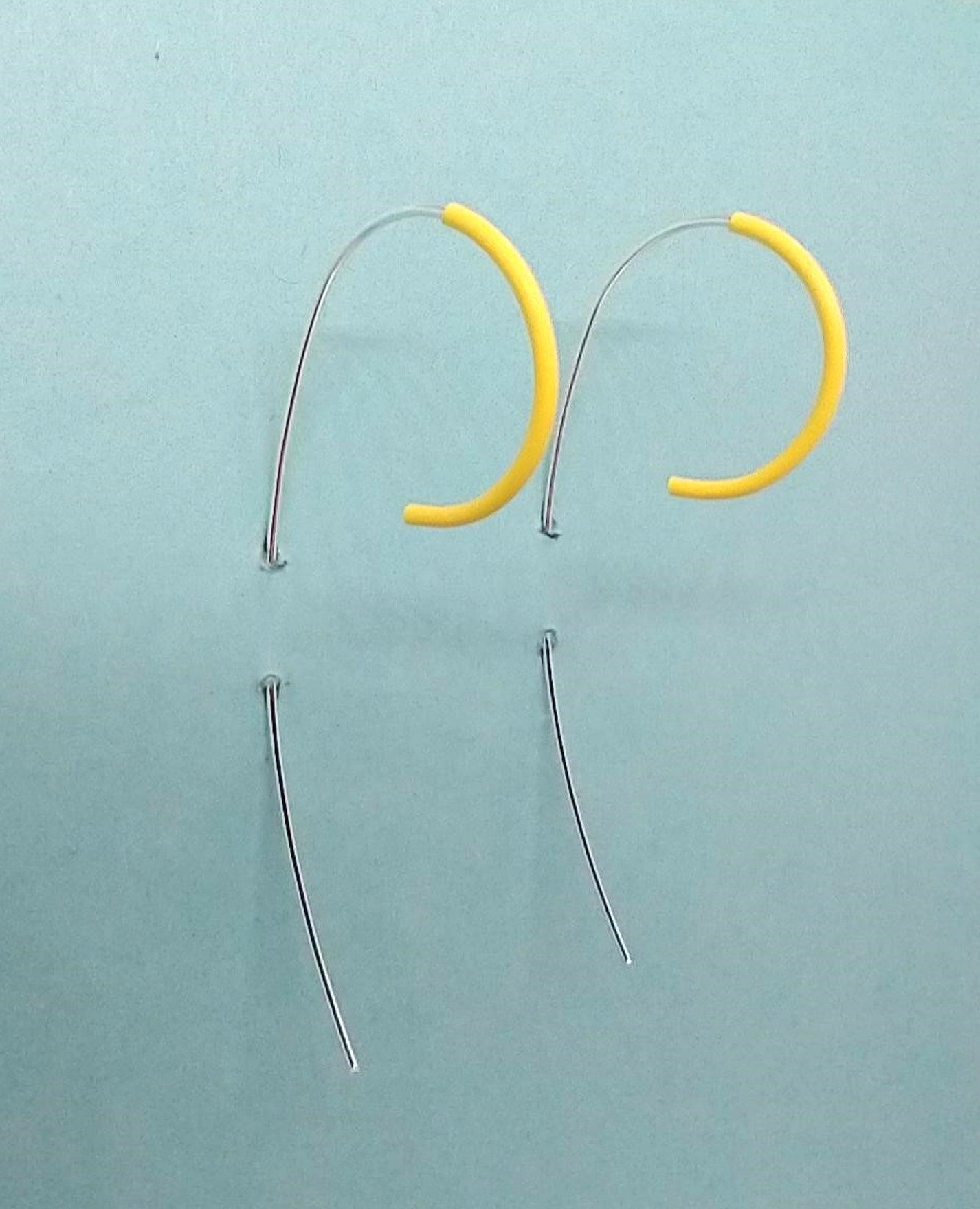 Yellow Railing Earrings
